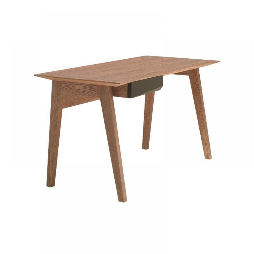 bureaux meubles et rangements butterfly bureau design bois avec tiroir laqu taupe inside75. Black Bedroom Furniture Sets. Home Design Ideas