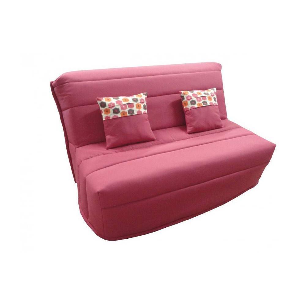 canap convertible au meilleur prix banquette bz convertible axel fuchsia couchage140 200cm. Black Bedroom Furniture Sets. Home Design Ideas