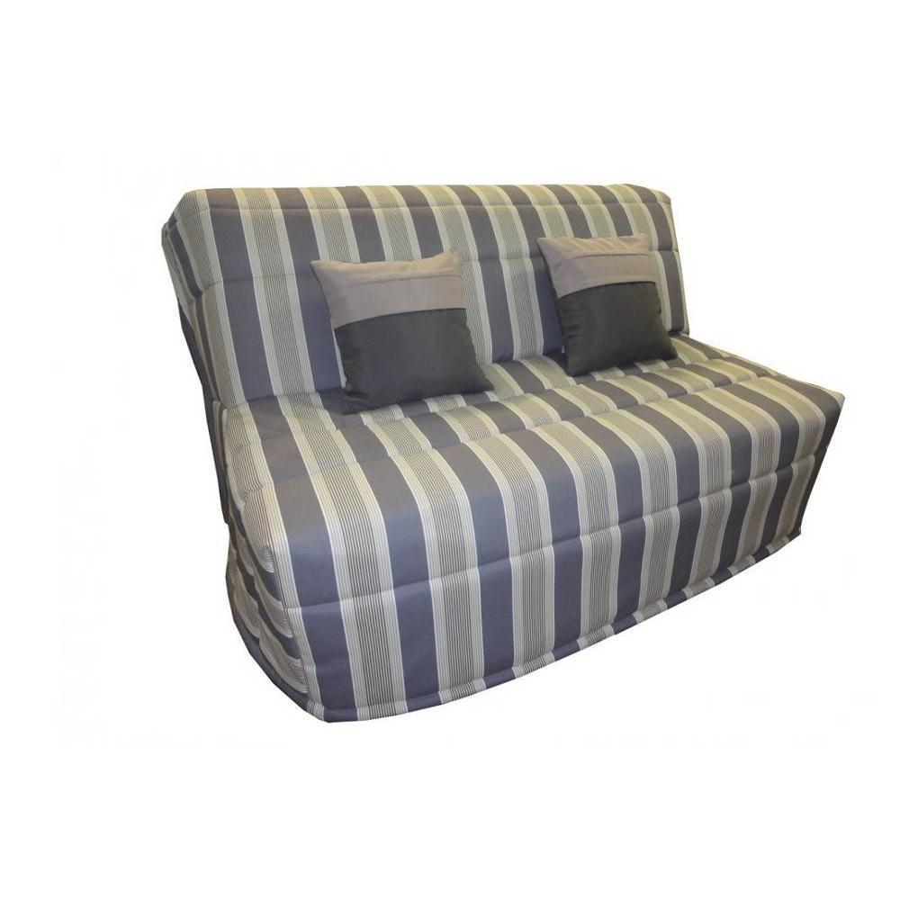 canap convertible bz au meilleur prix banquette bz convertible axel rayures grises 140 200cm. Black Bedroom Furniture Sets. Home Design Ideas