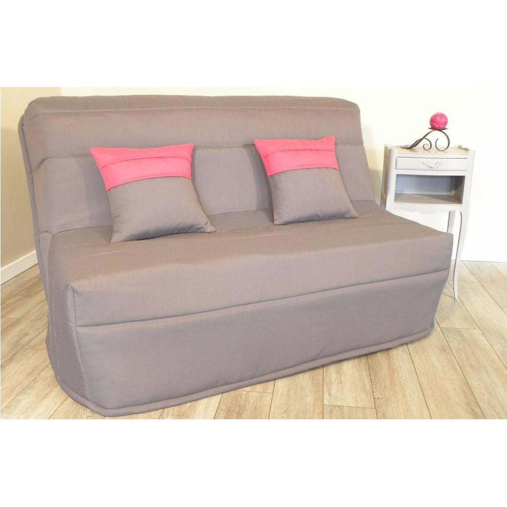 banquette bz convertible axel gris couchage160 200cm. Black Bedroom Furniture Sets. Home Design Ideas