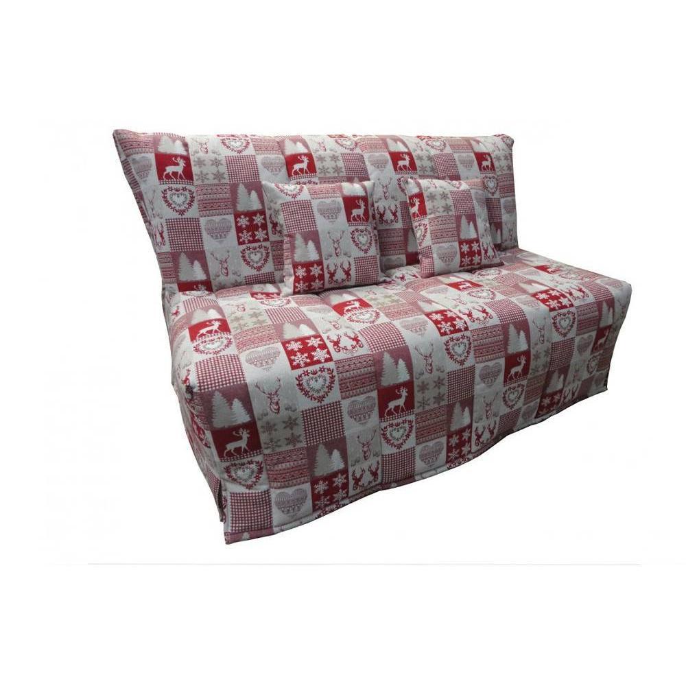 canap convertible bz au meilleur prix canap bz convertible flo rouge motifs cerfs 140 200cm. Black Bedroom Furniture Sets. Home Design Ideas