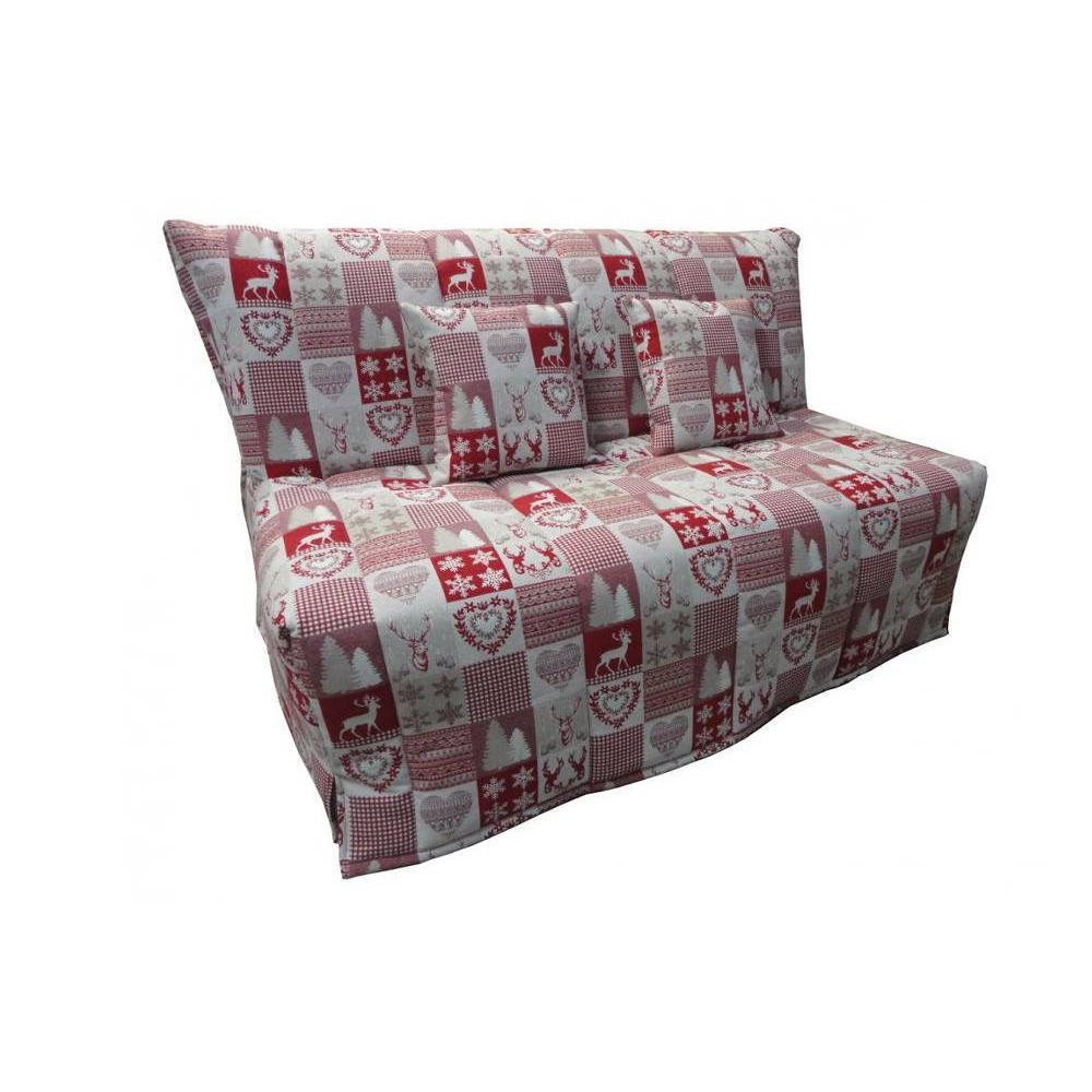 canap convertible bz au meilleur prix canap bz convertible flo motifs cerfs rouge 160 200cm. Black Bedroom Furniture Sets. Home Design Ideas