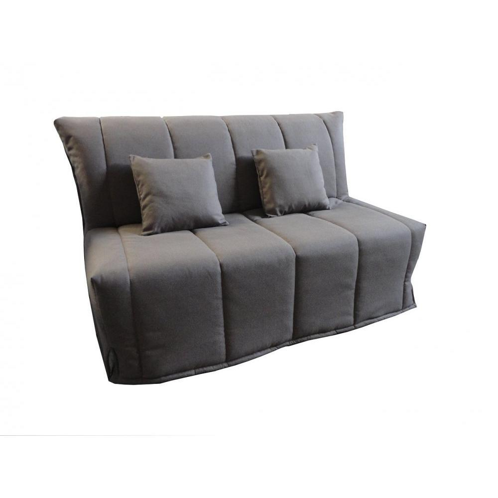 canap bz convertible flo taupe 160 200cm matelas confort bultex inclus ebay. Black Bedroom Furniture Sets. Home Design Ideas