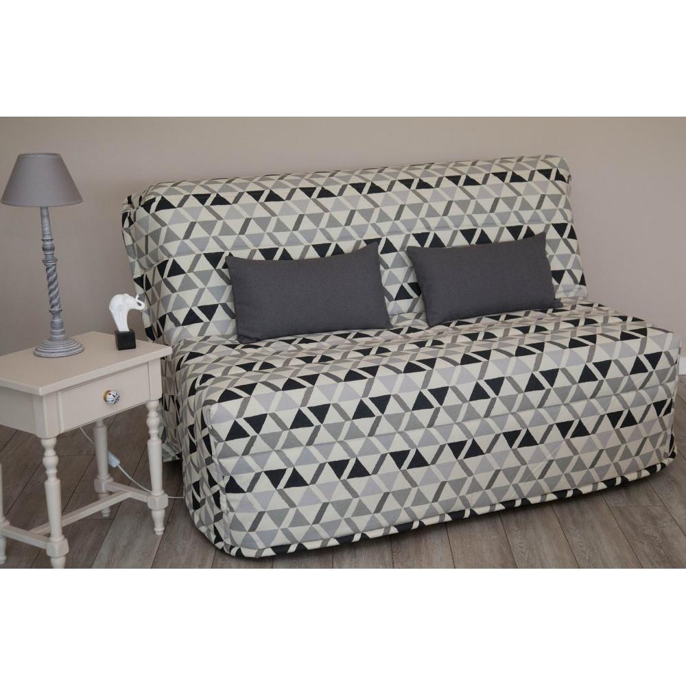 canap convertible bz au meilleur prix banquette bz convertible tom imprim s triangles gris. Black Bedroom Furniture Sets. Home Design Ideas