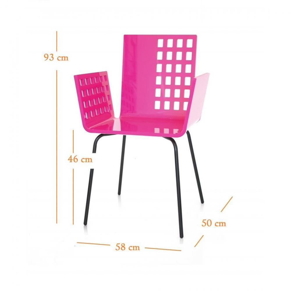 chaises meubles et rangements cali chaise carre rose plexiglass design acrila inside75. Black Bedroom Furniture Sets. Home Design Ideas