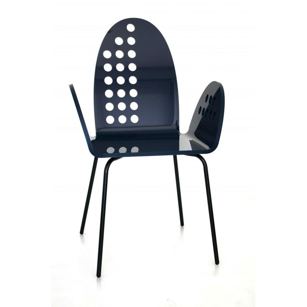 Chaises meubles et rangements cali chaise ronde noir for Chaise en plexiglass