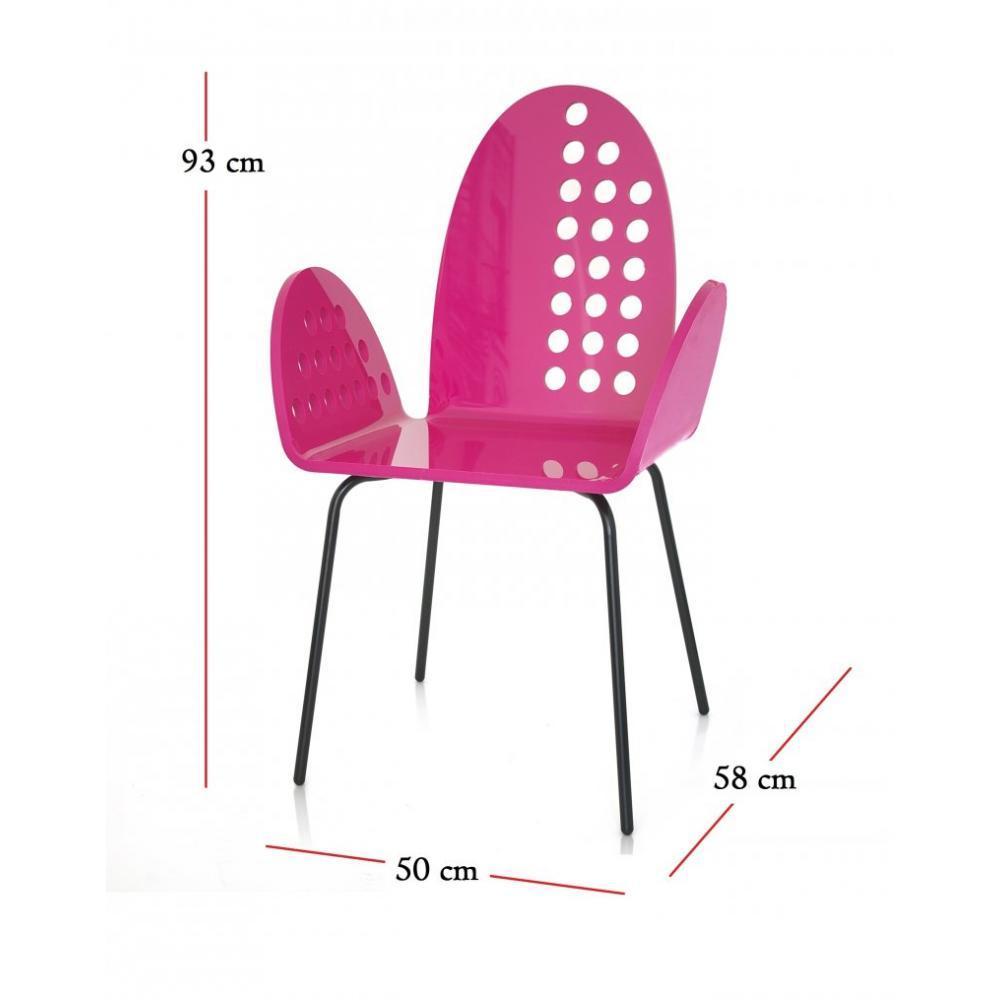 CALI Chaise Ronde Rose Plexiglass Design Acrila
