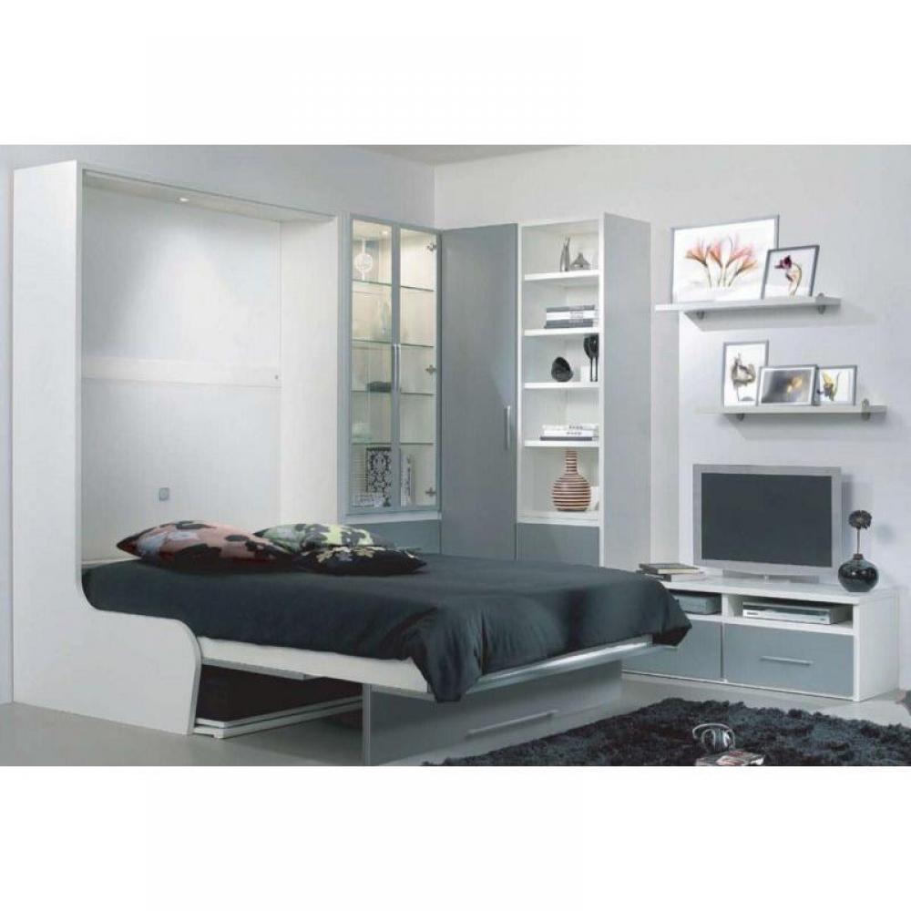 armoire lit escamotable avec canap int gr au meilleur prix armoire lit escamotable. Black Bedroom Furniture Sets. Home Design Ideas