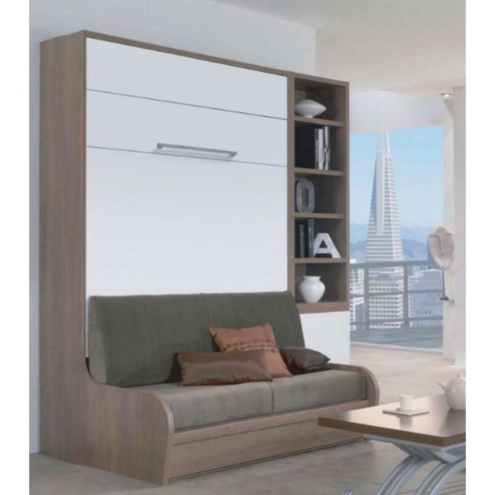 Armoire lit escamotable avec canap int gr au meilleur prix armoire lit escamotable 160 14 - Lit canape escamotable ...