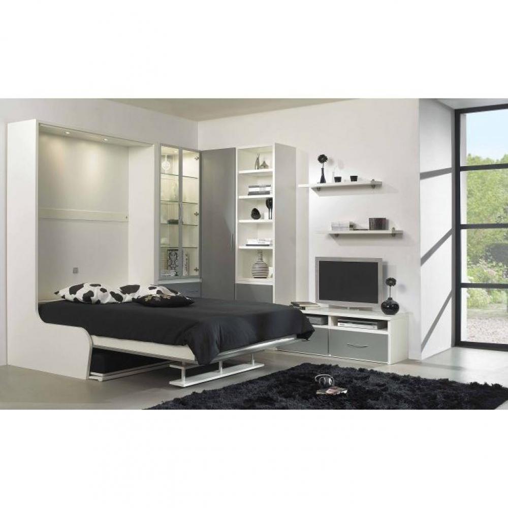 armoire lit escamotable verticale au meilleur prix armoire lit 140cm escamotable campus. Black Bedroom Furniture Sets. Home Design Ideas