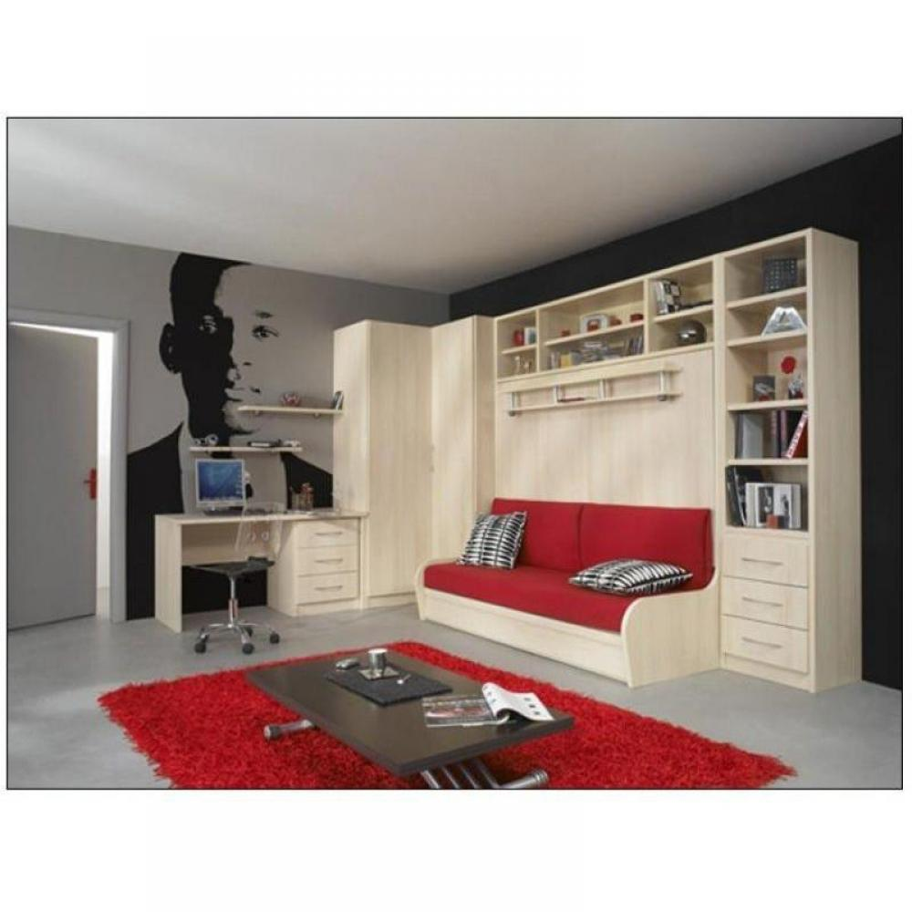 armoire lit escamotables au meilleur prix armoire lit 140 transversal autoporteur canap. Black Bedroom Furniture Sets. Home Design Ideas