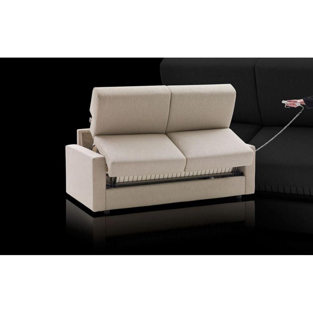 Canapé lit convertible express 140cm ARIA ouverture/fermeture AUTOMATIQUE électrique matelas 14cm