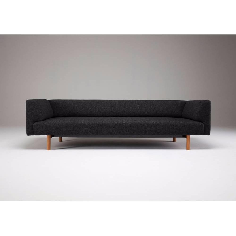 canap convertible au meilleur prix canap 2 places design scandinave ebeltoft tissu noir. Black Bedroom Furniture Sets. Home Design Ideas