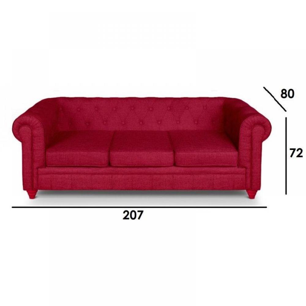 canap chesterfield en cuir velour au meilleur prix canap fixe chesterfield royal 3 places. Black Bedroom Furniture Sets. Home Design Ideas