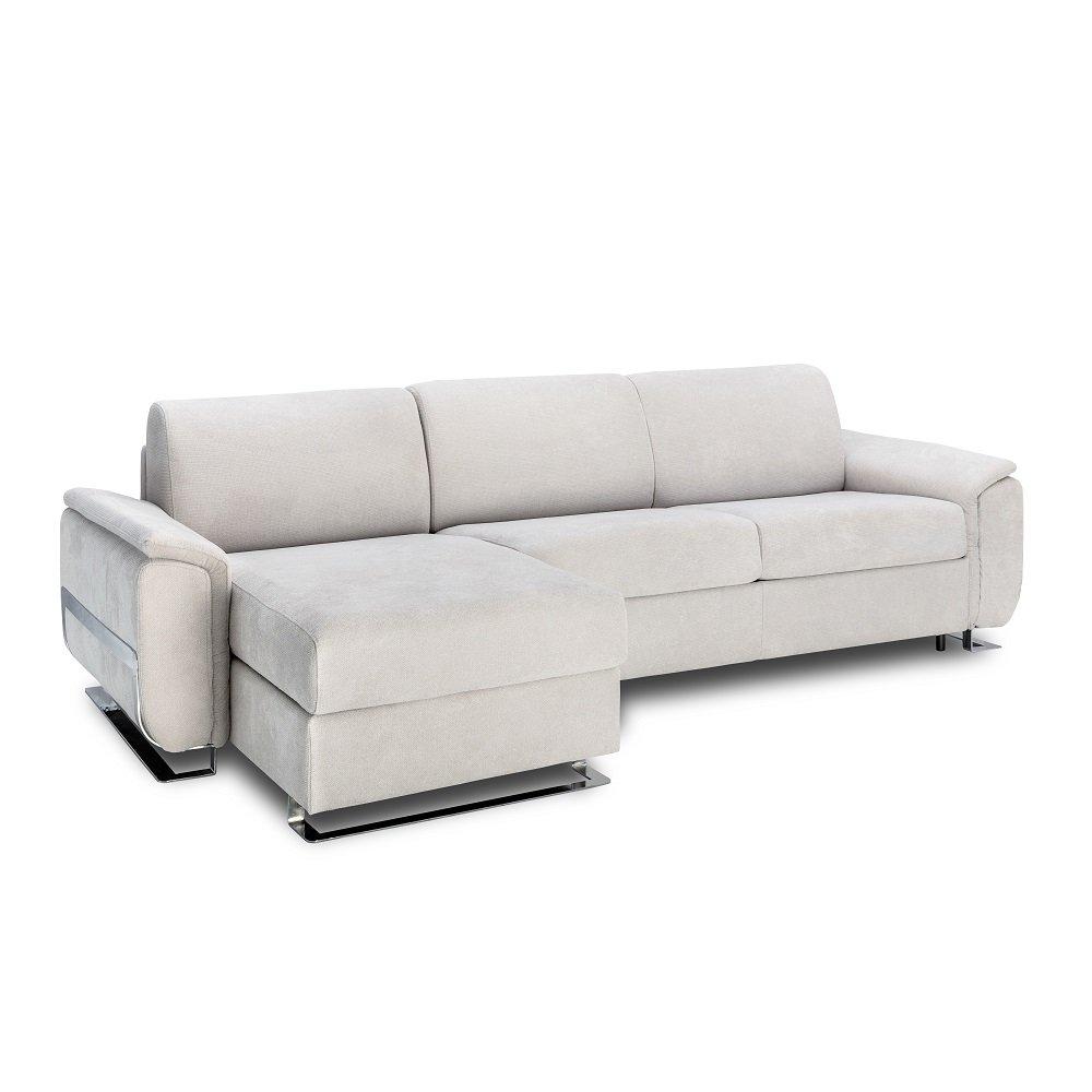 Canapé d'angle 3 places Gris Tissu Contemporain Confort