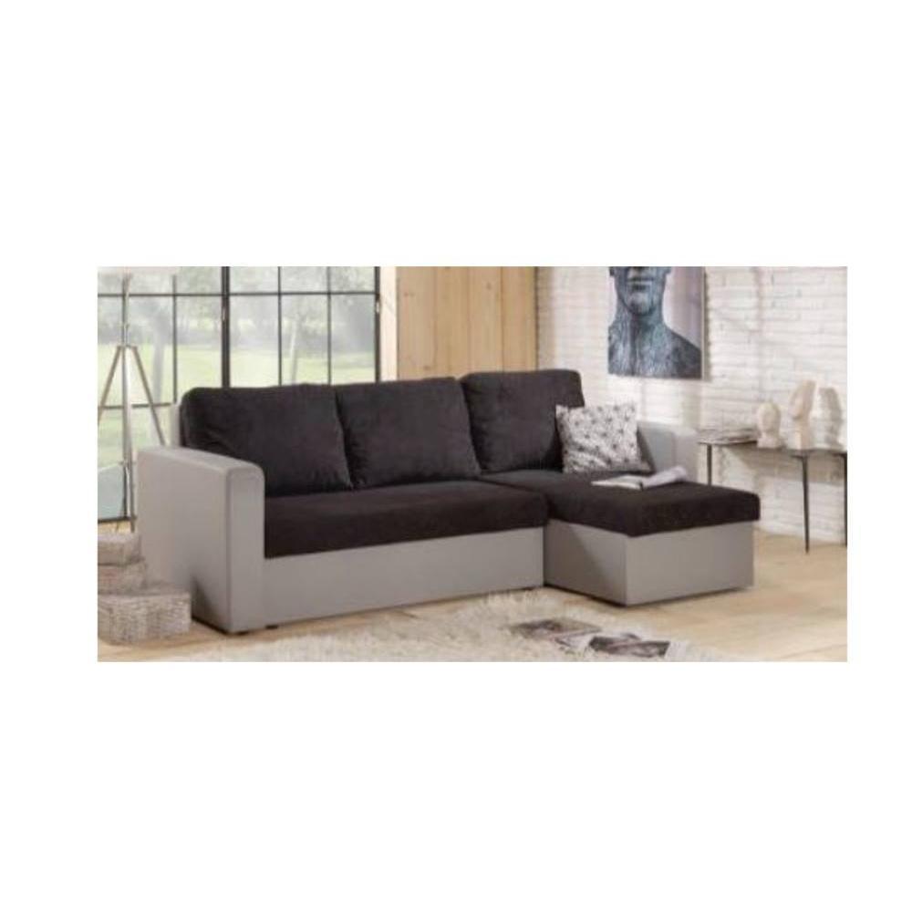 canap convertible au meilleur prix canap d 39 angle convertible janus 140cm bi mati re noir et. Black Bedroom Furniture Sets. Home Design Ideas