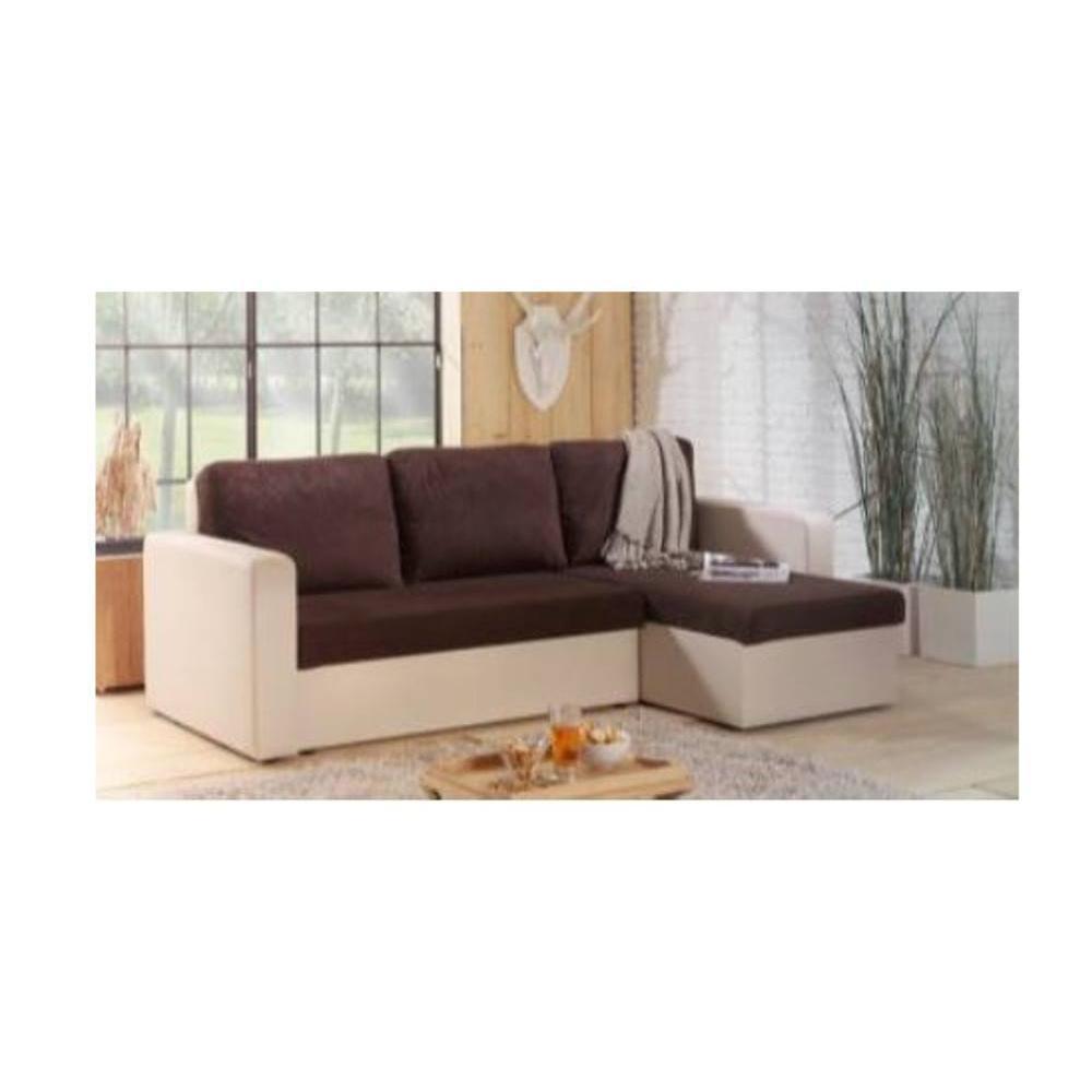 canap convertible au meilleur prix canap d 39 angle convertible janus 140cm bi mati re chocolat. Black Bedroom Furniture Sets. Home Design Ideas