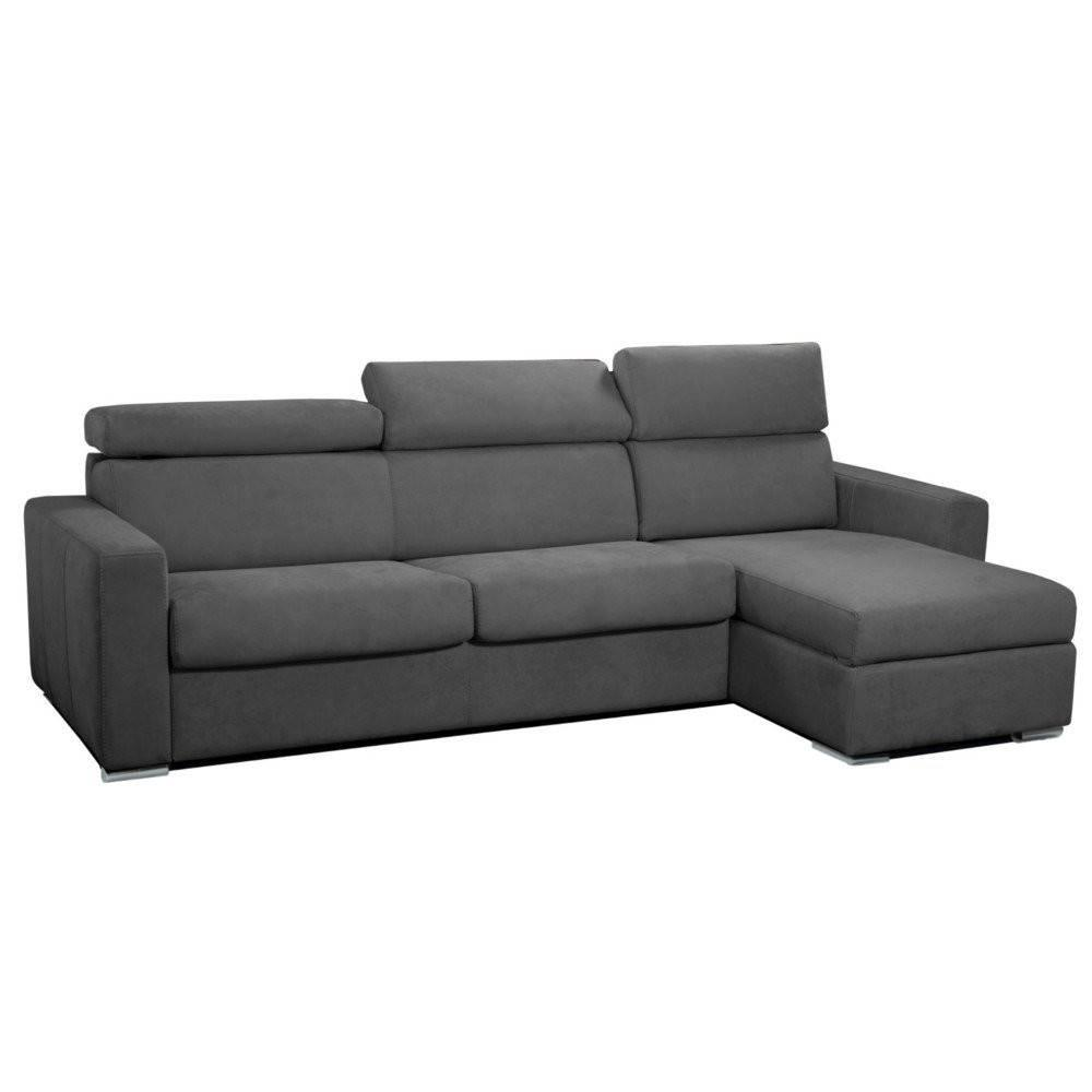 Canapé d'angle 2 places Tissu Luxe Design Confort