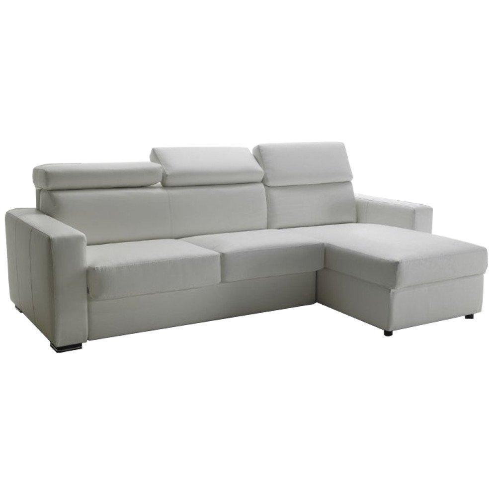 Canapé d'angle 2 places Blanc Tissu Luxe Design Confort