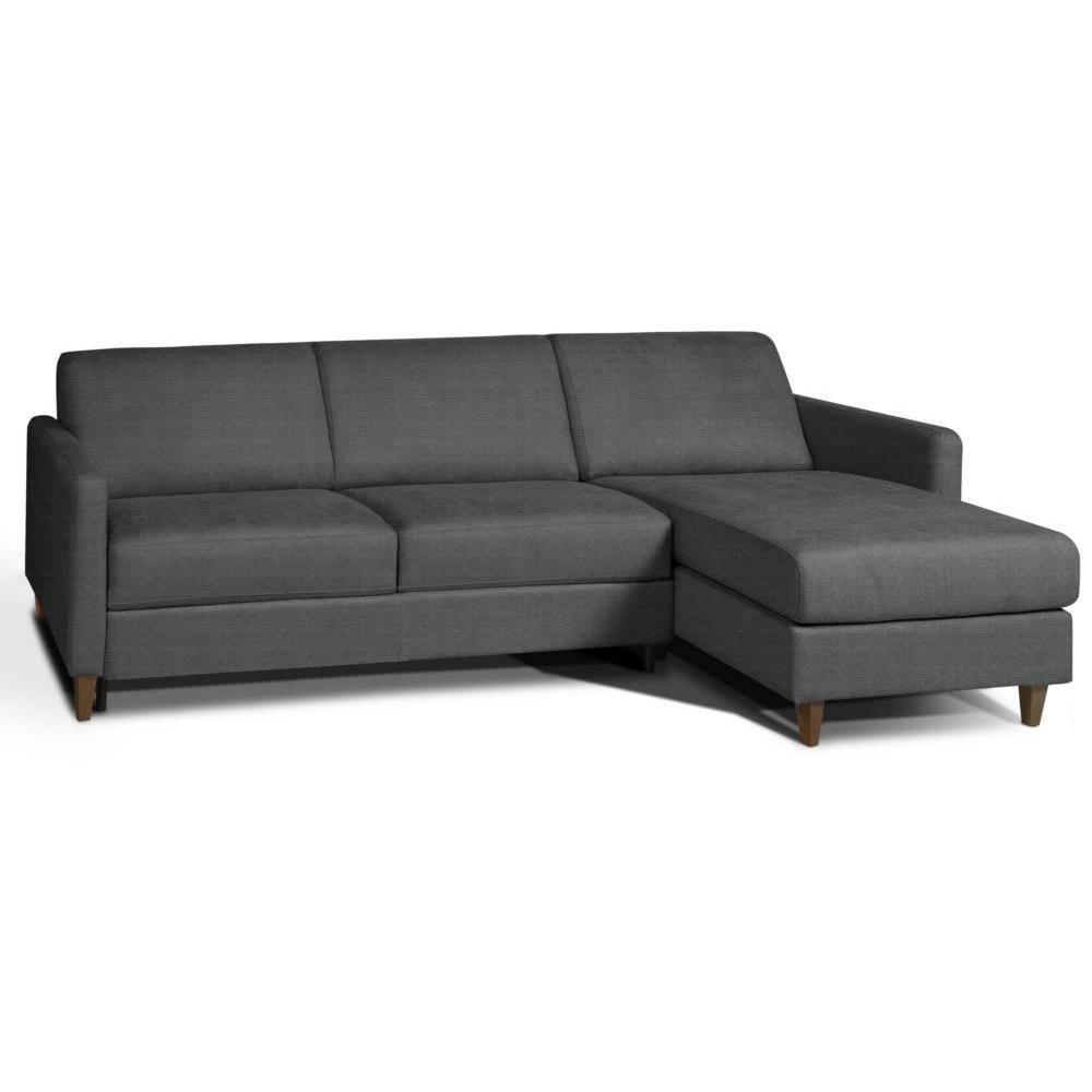 Canapé d'angle 3 places Gris Tissu Design Confort
