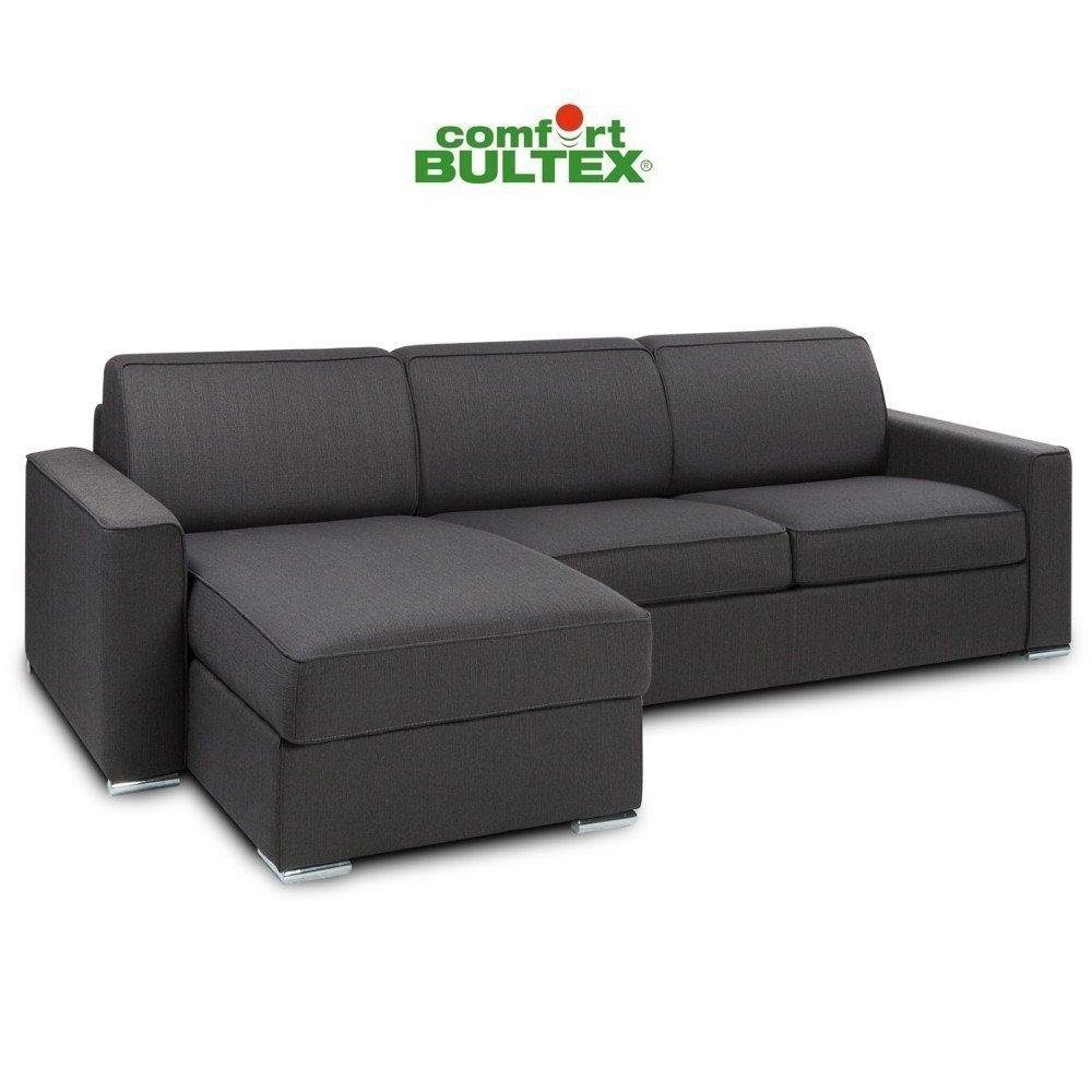Canapé d'angle 4 places Tissu Confort