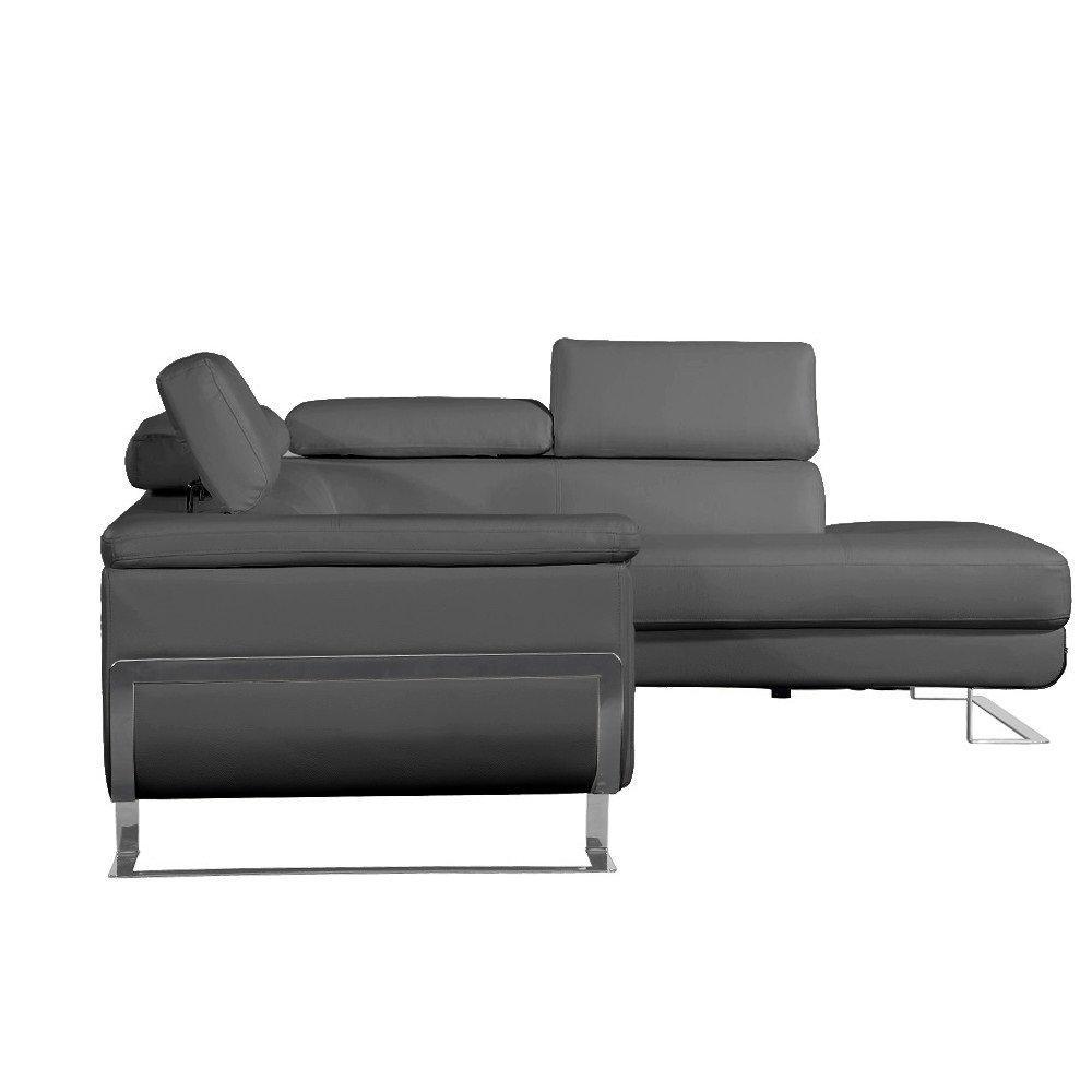 canap d 39 angle moderne et classique au meilleur prix canap d 39 angle droite fixe misano cuir. Black Bedroom Furniture Sets. Home Design Ideas