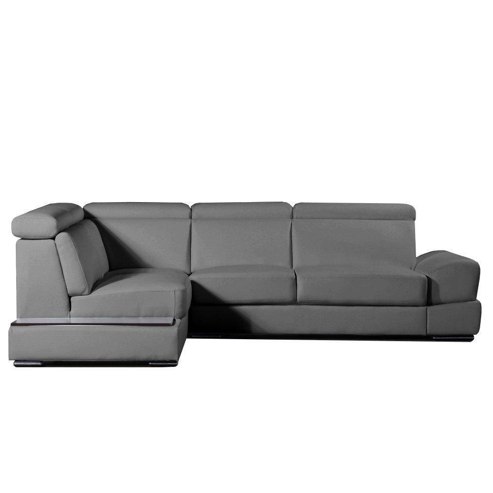 canap d 39 angle moderne et classique au meilleur prix canap d 39 angle gauche fixe longiano cuir. Black Bedroom Furniture Sets. Home Design Ideas