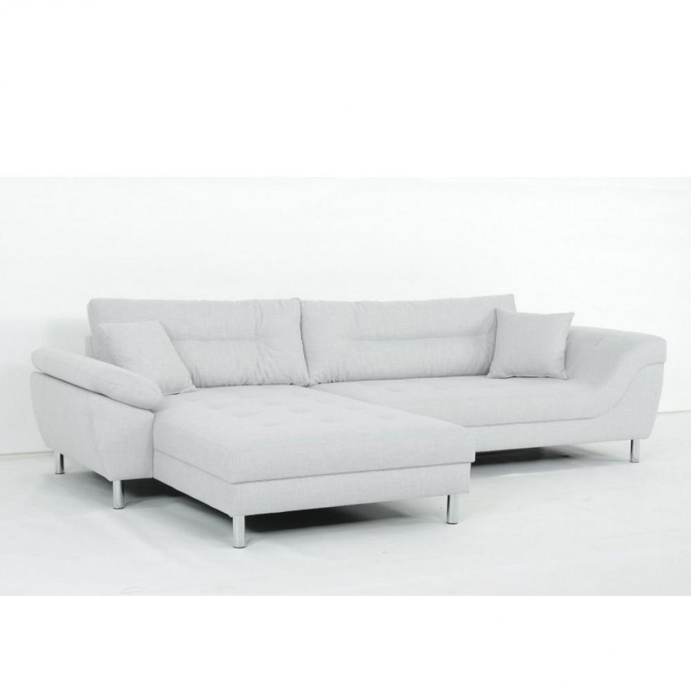 Canapé d'angle Gris Tissu Contemporain Confort