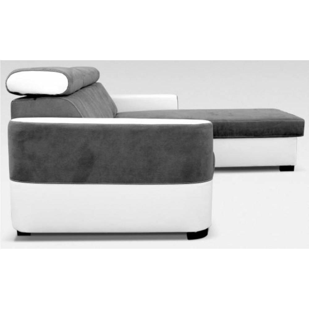 Canap s rapido convertibles design armoires lit escamotables et dressing p - Canape d angle convertible blanc et gris ...