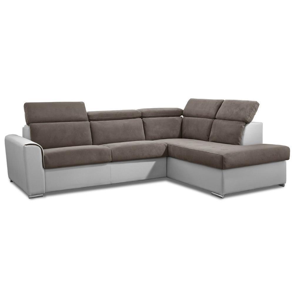 Canapé d'angle 2 places Tissu Design Confort