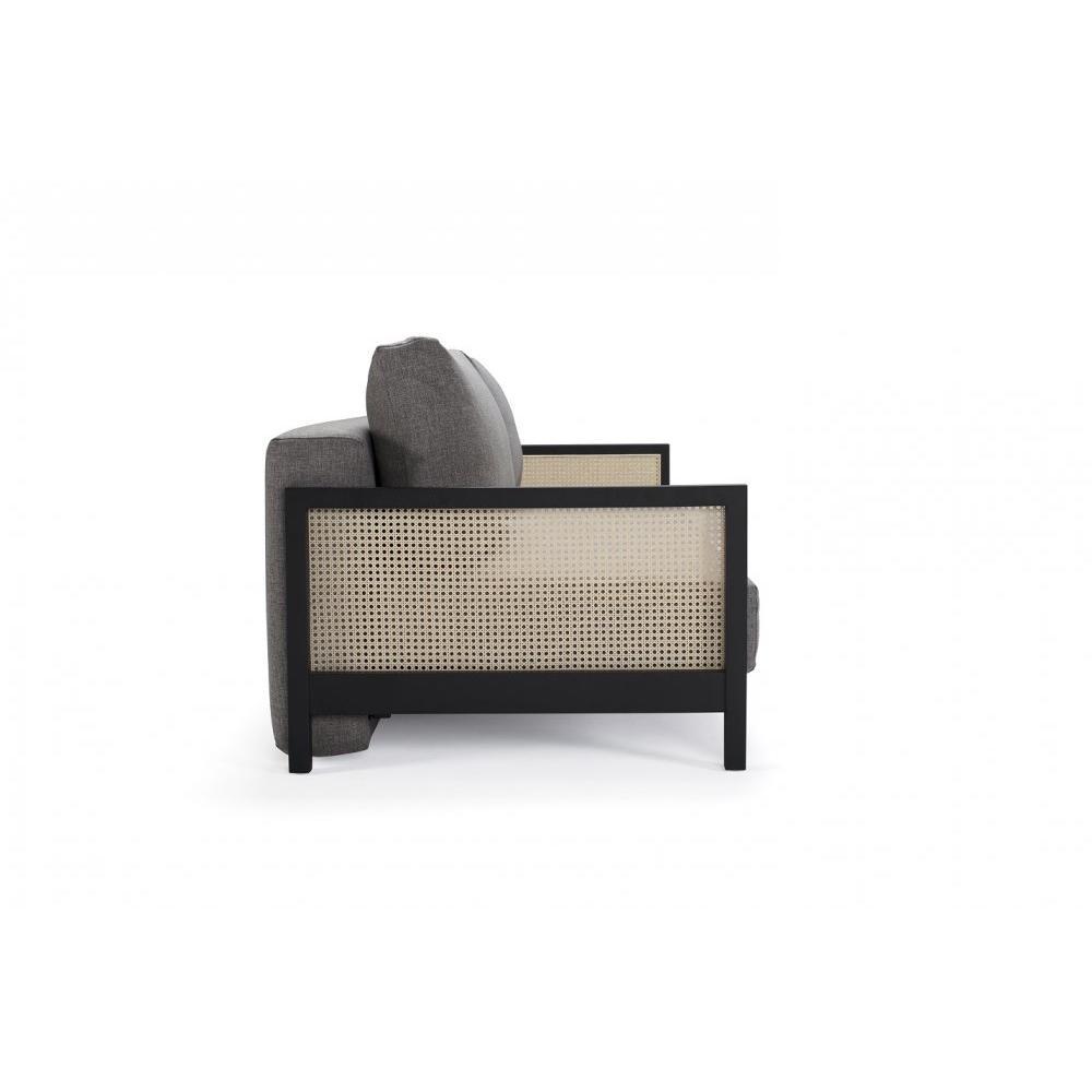 INNOVATION LIVING  Canapé design Art Deco NARVI convertible lit 200*140 cm tissu Mixed Dance grey