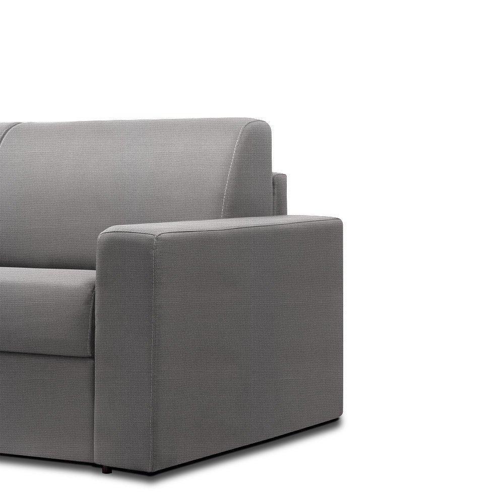 Canapé convertible rapido CRÉPUSCULE matelas 120cm comfort BULTEX® tissu neo gris silver