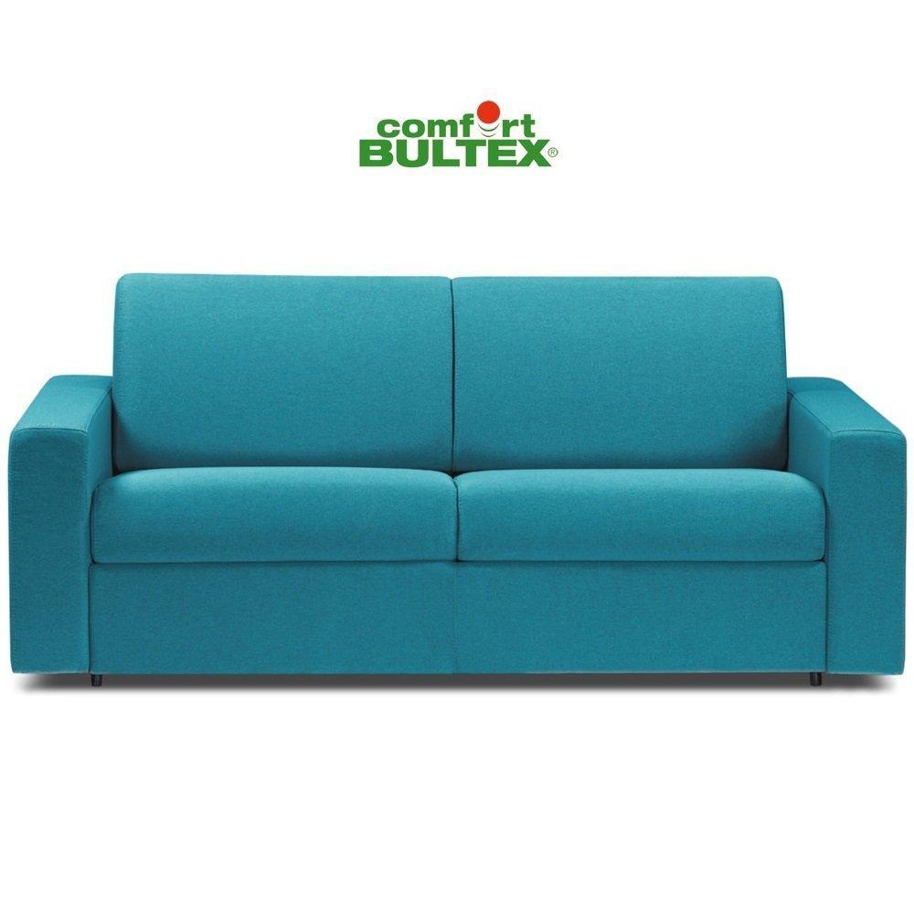 Canapé convertible express CRÉPUSCULE matelas 140cm comfort BULTEX® tweed turkis