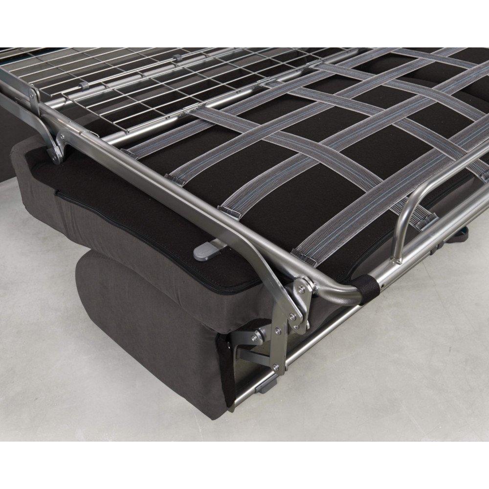 Canapé convertible rapido CRÉPUSCULE matelas 140cm comfort BULTEX® tissu microfibre taupe