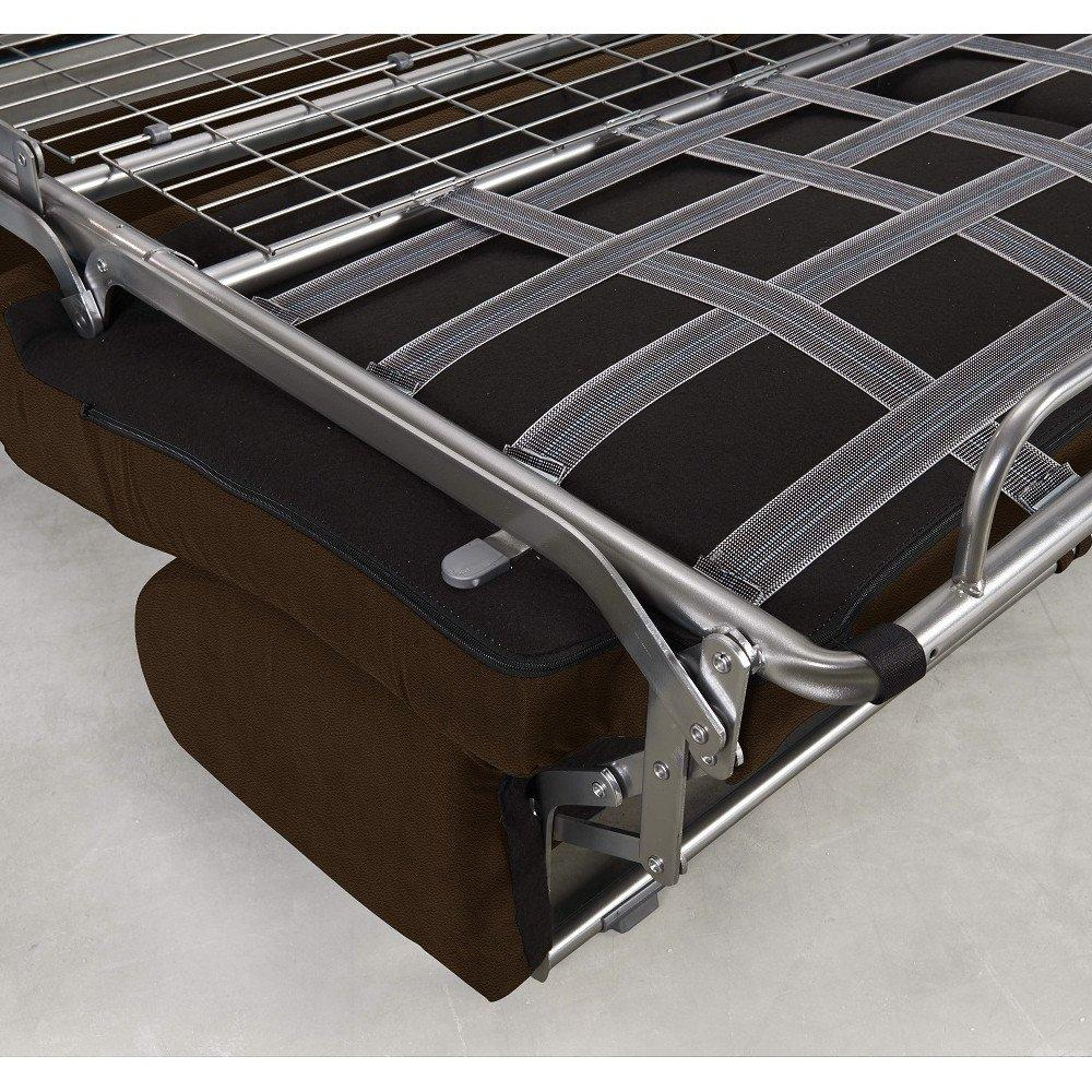 Canapé convertible rapido CRÉPUSCULE matelas 140cm comfort BULTEX® revêtement polyuréthane marron
