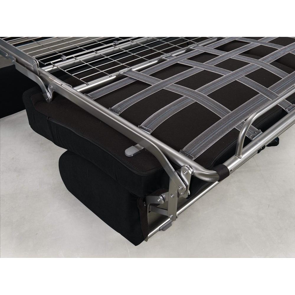 Canapé convertible rapido CRÉPUSCULE matelas 140cm comfort BULTEX® polyuréthane noir