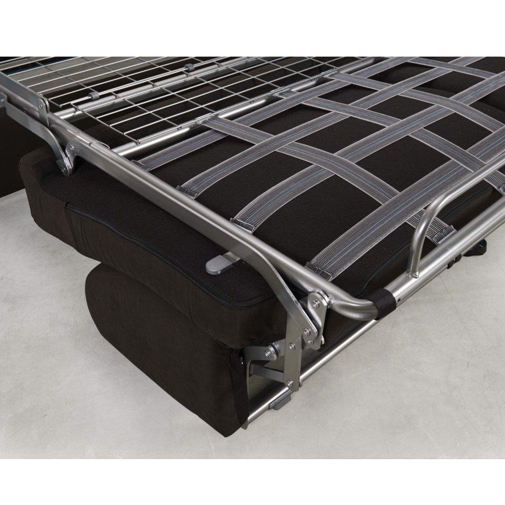 Canapé convertible express CRÉPUSCULE matelas 140cm comfort BULTEX® simili PUtaupe