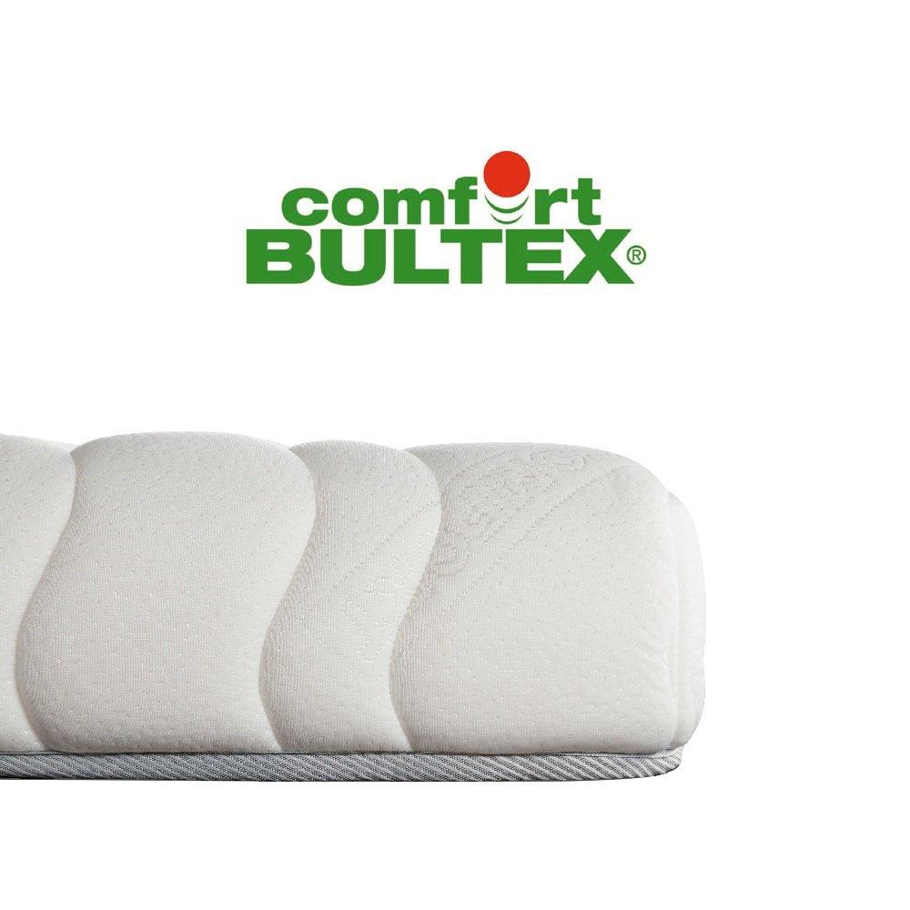 Canapé convertible express CRÉPUSCULE matelas 140cm comfort BULTEX® tissu tweed marron chocolat