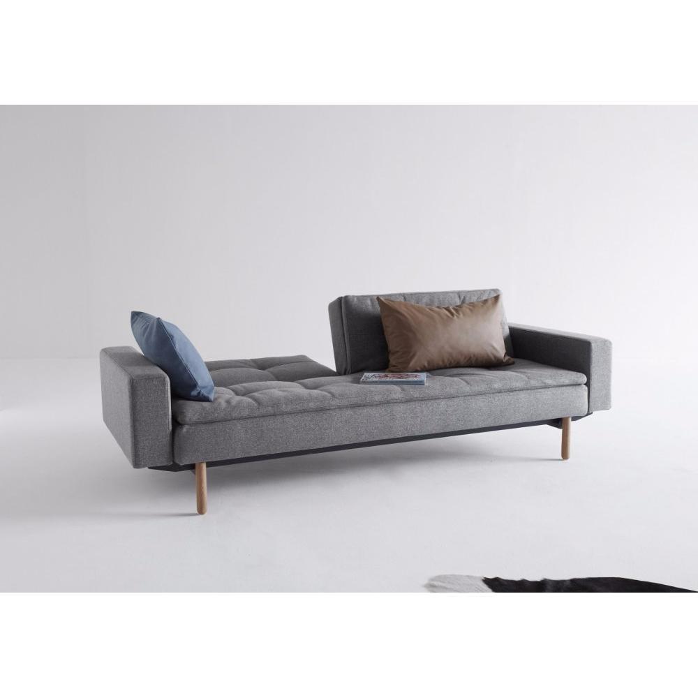 canap convertible au meilleur prix canap design dublexo styletto avec accoudoirs gris twist. Black Bedroom Furniture Sets. Home Design Ideas
