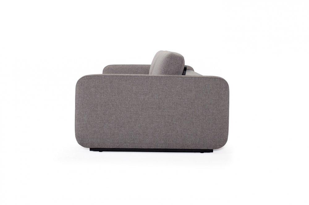 INNOVATION LIVING  Canapé convertible design VOGAN tissu Mixed Dance Grey
