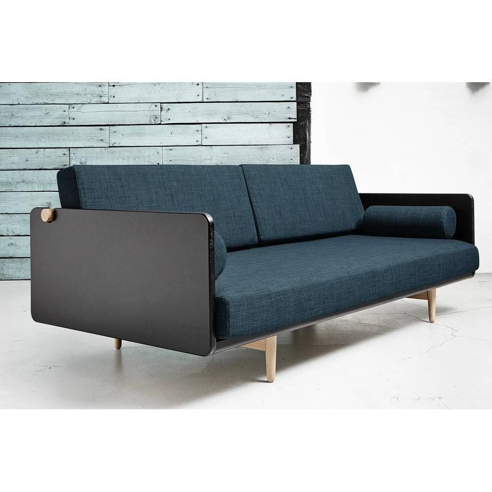 canap convertible au meilleur prix canap lit style scandinave deva deep blue couchage 100. Black Bedroom Furniture Sets. Home Design Ideas