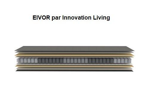 INNOVATION LIVING  Canapé convertible rapido EIVOR couchage 140*195 matelas 18 cm tissu Mixed Dance Grey