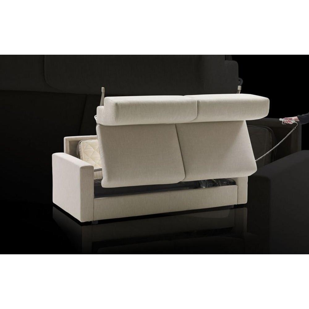 Canapé lit convertible express 120 cm ARIA ouverture/fermeture AUTOMATIQUE électrique  matelas 14cm