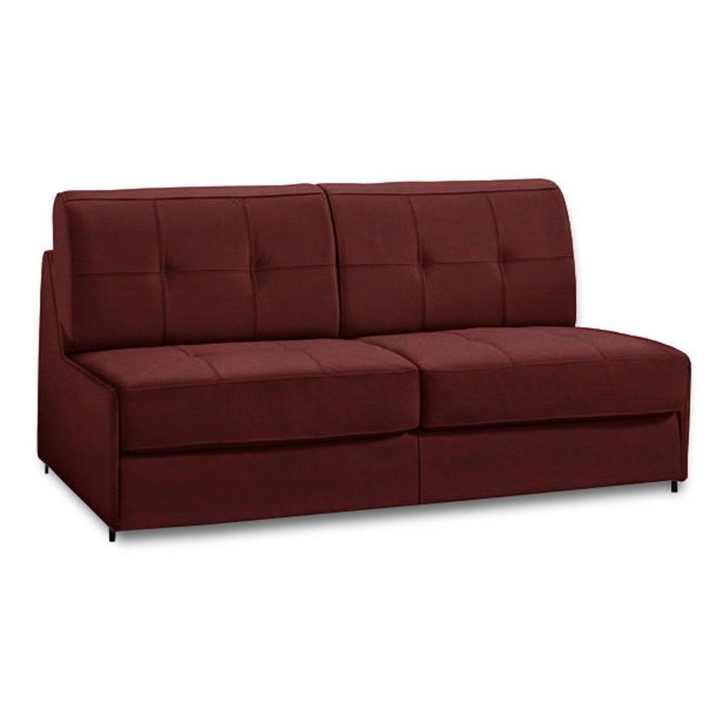 Canapé lit compact 3 places DENSO ouverture RAPID RAPIDO 140cm microfibre bordeaux matelas 18 cm