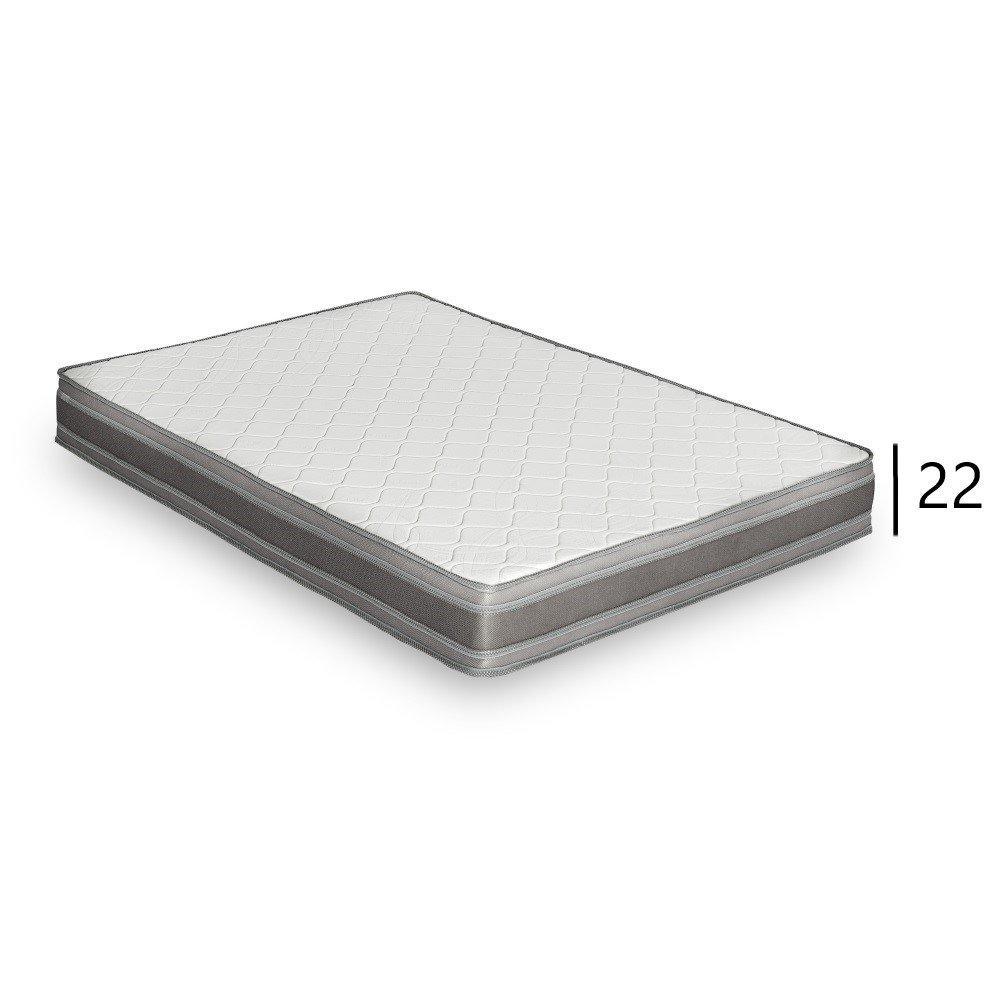 Canapé CanapExpress AZUR matelas mémory  22 cm sommier métal 140 cm