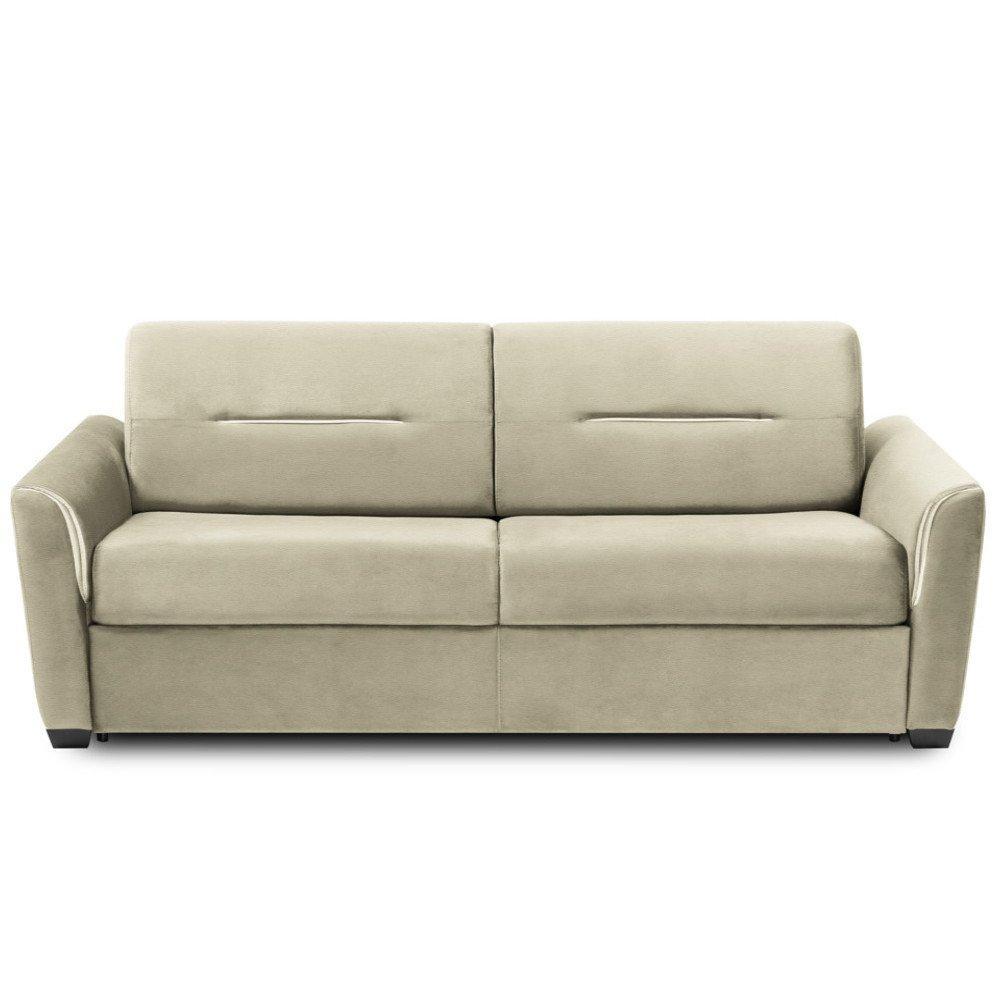 Canapé droit 4 places Beige Tissu Design Confort