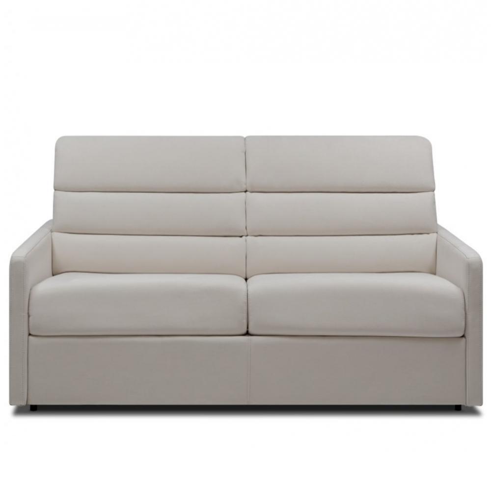 Canapé droit 3 places Gris Tissu Confort