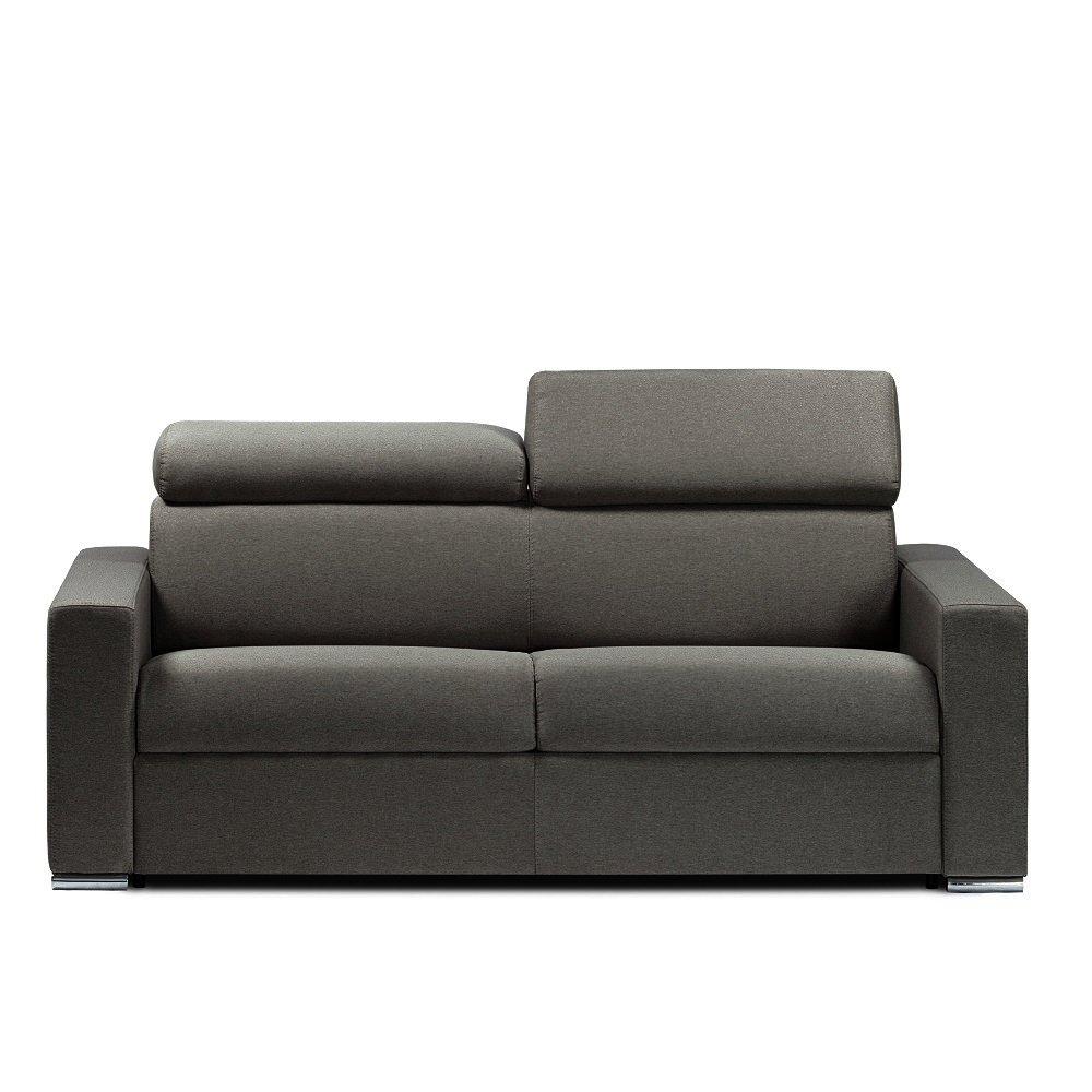 Canapé droit 2 places Gris Tissu Design Confort