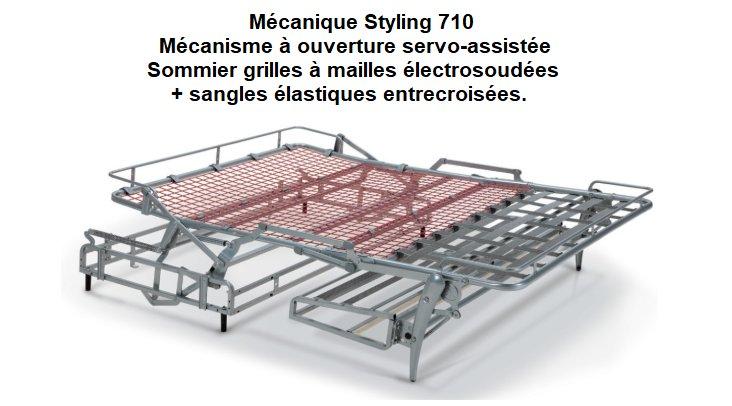 Canapé Convertible GRAZIANA Ouverture Assistée Couchage 140*200 cm Matelas 14 cm.