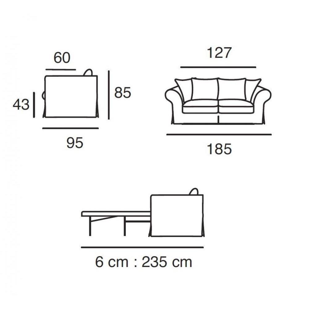 Canapé lit convertible HARRY Matelas BULTEX 113*183*6 cm Sommier lattes Ouverture RAPIDO